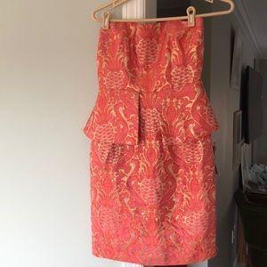 Nordstrom formal peplum dress